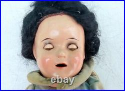 1930s Walt Disney SNOW WHITE Shirley Temple IDEAL 13 Composition Doll