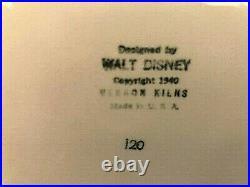 1940 Vintage Vernon Kilns Walt Disney Fantasia Mushroom Planter Painted Version