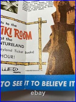 1963 Disneyland Enchanted Tiki Room Premiere Brochure Vintage 1960s Disney PLUS