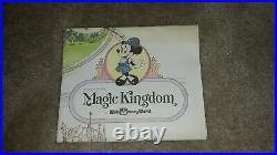 1979 DISNEY Magic Kingdom Walt Disney World Park Map Vintage Poster