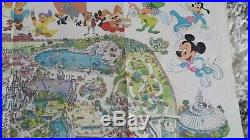 1979 DISNEY Magic Kingdom Walt Disney World Park Map poster Vintage RARE