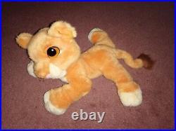 1998 Mattel Disney The Lion King Simba's Pride KIARA PURRING Soft Plush Toy
