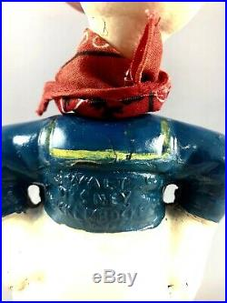 9 Antique American Composition Donald Duck Gunslinger Doll! Original Tag! 18028
