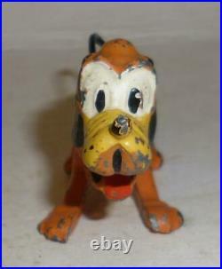 Britains Vintage Lead Rare Prewar Walt Disney's Pluto With Movable Head 1930's