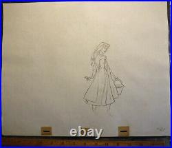 Disney Original Production Drawing 1959 Briar Rose Sleeping Beauty vintage