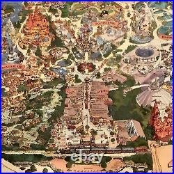 Disneyland 40th Anniversary Park Map 40 Years of Adventures Vintage Disney 1995