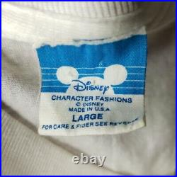 Disneyland Splash Mountain T Shirt Vintage 80s 1989 Opening Cast USA Size Large