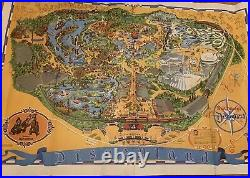 Disneyland Vintage Wall Map Walt Disney 30 X 44 Inches Poster Guide 1968 1972