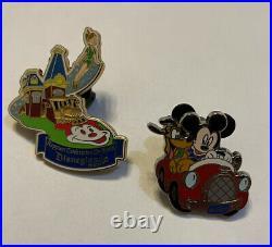 Disneyland Walt Disney Vintage Elongated Coins & Lapel Pins From Florida Parks