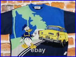 Iceberg Vintage Pullover Donald Duck Taxi Hollywood Walt Disney Size M Tip Top
