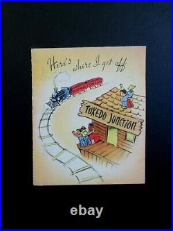 L336 VTG Hand Signed by Walt Disney's Mary Blair Greeting card Tuxedo Junction