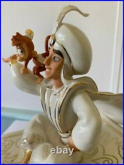 LENOX Walt Disney SHOWCASE Collection ALADDIN Vintage LARGE Figurine 24ct GOLD