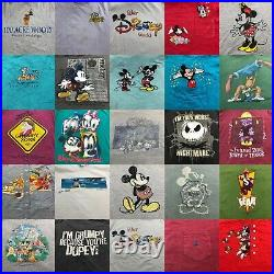 Lot of 50 Vintage 90s Walt Disney Mickey Mouse Graphic T-Shirt 2615