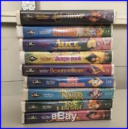 Lots of 9 Vintage Walt Disney Movies Home Video Black Diamond VHS Cassette Tape