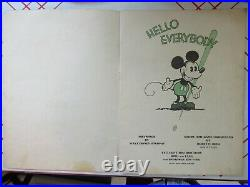 Mickey Mouse Book Walt Disney Bibo & Lang Contains Center Page 1930 Vintage