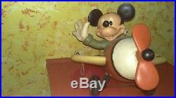 Mickey Mouse / Mickey Maus im Flugzeug Figur Walt Disney