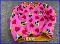 Mickey Mouse Sweatshirt Crewneck REVERSIBLE Minnie Mouse Walt Disney World VTG