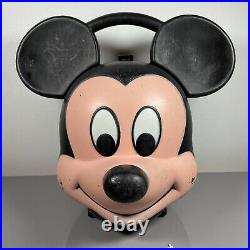 Mickey Mouse Vintage Head Lunch Box Aladdin Industries Walt Disney Vintage