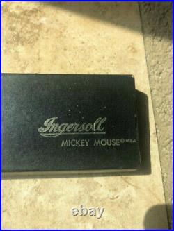 Mickey Mouse Watch Vintage Original Walt Disney Production Wind Up Ingersoll