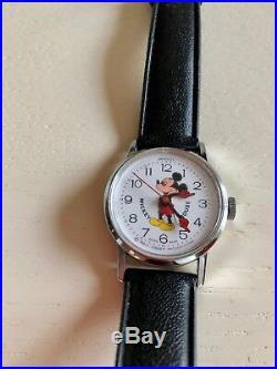 Mickey Mouse Watch Vintage Winding Bradley Swiss Walt Disney Productions