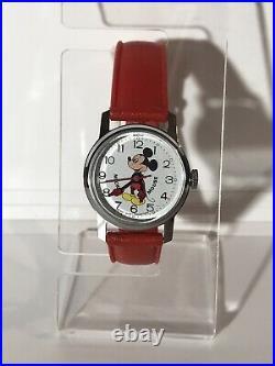 Mickey Mouse Wrist Watch Vintage Winding Bradley Swiss Walt Disney Productions
