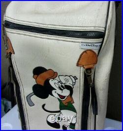 Mickey Mouse leather Golf cart bag Belding sports vintage 1980s Walt Disney