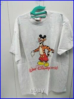 NOS Disney Designs Walt Disney World Tigger T-shirt Mens XL Gray Vintage USA