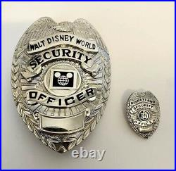 Obsolete Vintage Walt Disney World Security Office Collectible Badge And Pin
