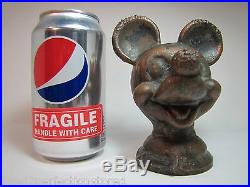 Orig MICKEY MOUSE WALT DISNEY Toy Mold rare WDP marked metal figural head mld