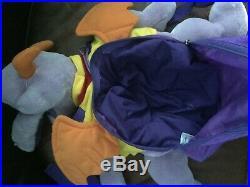 RARE 1999 Vintage Walt Disney World Figment Plush Handbag Purse Backpack HTF Bag