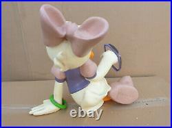 RARE VINTAGE BOXED Daisy Duck store display figure big fig statue Walt Disney