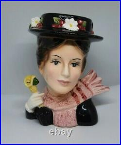 RARE Vintage Disney Head Vase Mary Poppins Umbrella Hat Scarf Headvase