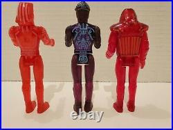Rare And Vintage Tomy 1981 Walt Disney's Tron +3 Action Figures Lot