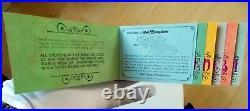 Rare Complete Vintage 1971 Walt Disney World's Magic Kingdom Opening Ticket Book