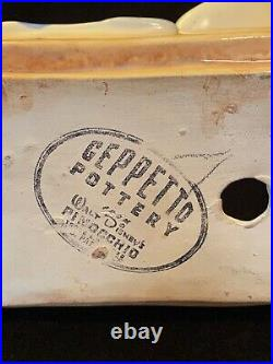Rare VTG Geppetto Pottery Walt Disney Pinocchio Figaro Cat Sleeping Bed Figurine