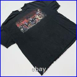 Rare VTG WALT DISNEY World Villains T Shirt 90s Cruella de Vil Scar Maleficent