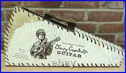 Rare Vintage Davy Crockett Guitar & Box Walt Disney's Official Fess Parker