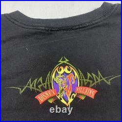 Rare Vintage Disney Villains T Shirt XL Promo Tee Cruella Hook Scar And More