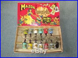 Rare Vintage Mazda Walt Disney Christmas Lights Snow White & The Seven Dwarves