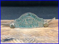 Rare Vintage Original Walt Disney World RR Conductor Badge Disneyland