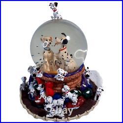 Rare Vintage Walt Disney 101 Dalmatians Snow Globe Music Box Doggie in Window