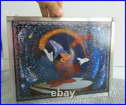 Rare Vintage Walt Disney Aniglass Stained Glass Animation Mickey Mouse Fantasia
