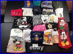 Reseller Lot of 23 Wholesale Vintage 80s 90s Walt Disney Sweatshirts DLOT5