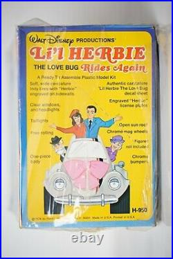 Revell Lil Herbie Model VW Volkswagen Beetle Bug Walt Disney Rare Half Unopened