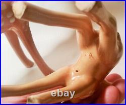 SNOW WHITE walt disney movie brayton laguna pottery deer figurine vtg california