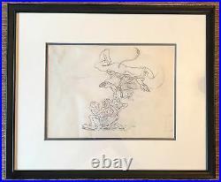 Silly Symphonies c. 1930s Production Drawing Cel Vintage Walt Disney