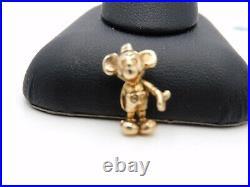 Solid 14k Gold Vintage Original Walt Disney Mickey Mouse Charm Pendant Estate