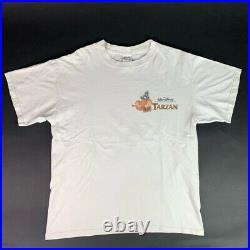 Tarzan Walt Disney Mens Basicss Graphic T-Shirt White 100% Cotton Vintage Tee L