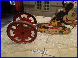 VINTAGE 1930s WALT DISNEY ENT HILL COMPANY MICKEY MOUSE PULL TOY SUPER RARE