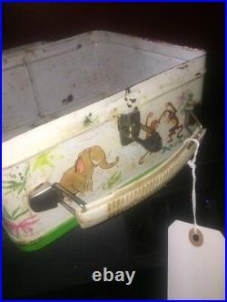 VINTAGE 1966 WALT DISNEY JUNGLE BOOK BY ALADDIN METAL LUNCHBOX no therm Lot 250